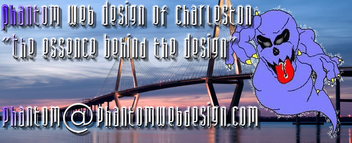 Phantom Web Design of Charleston main Logo